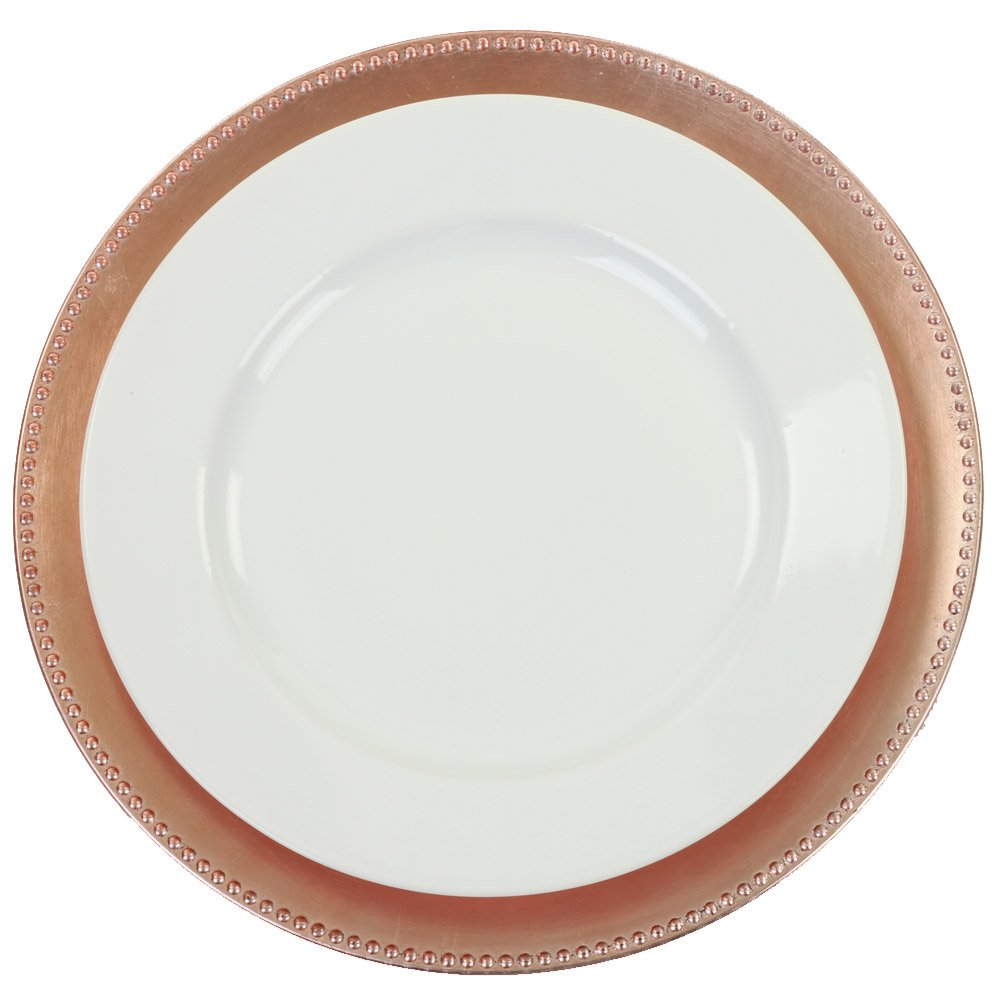 Koyal Wholesale Charger Plates, Rose Gold (Pack of 4) by Koyal Wholesale (Image #2)