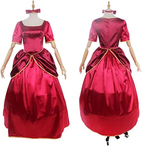 Amazon.com: cosplaydiy Fancy vestido rojo para hermanas de ...