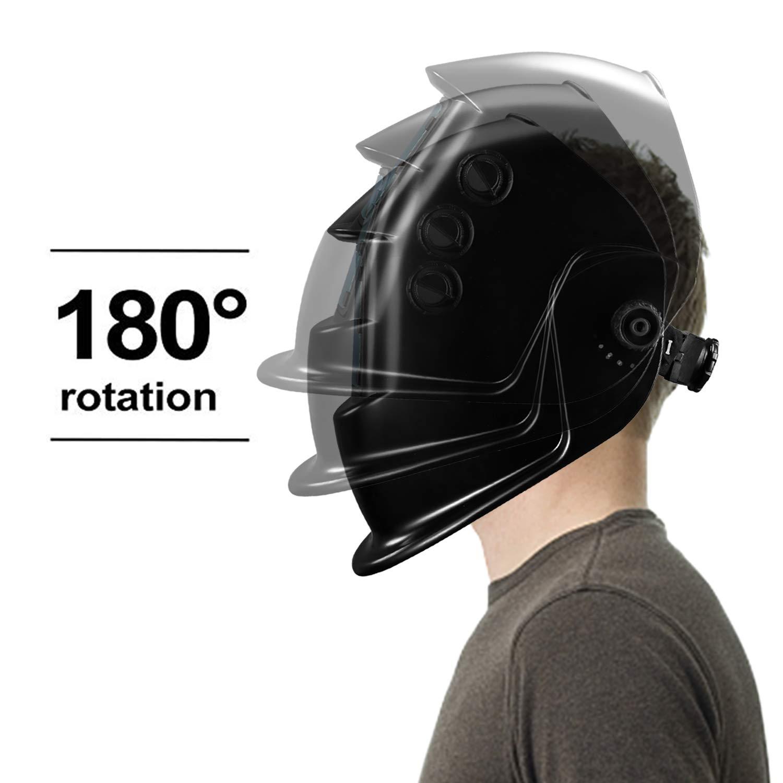 DEKOPRO Auto Darkening Solar Welding Helmet ARC TIG MIG Weld Welder Lens Grinding Mask New Black Design by DEKOPRO (Image #7)