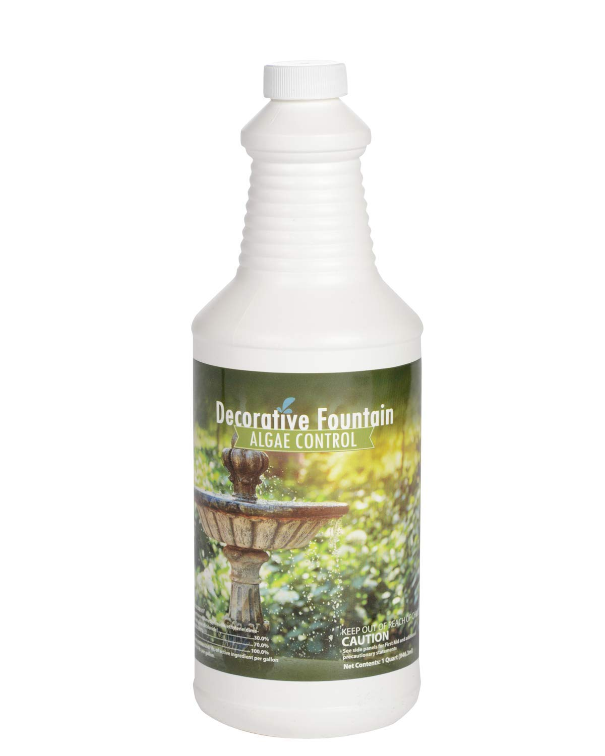 Fountain Algaecide and Clarifier, Formulated for Small Ponds, Water Features, 32oz by Sanco Industries