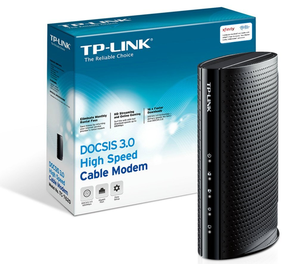 TP-Link DOCSIS 3.0 (16x4) High Speed Cable Modem Max Download S ...