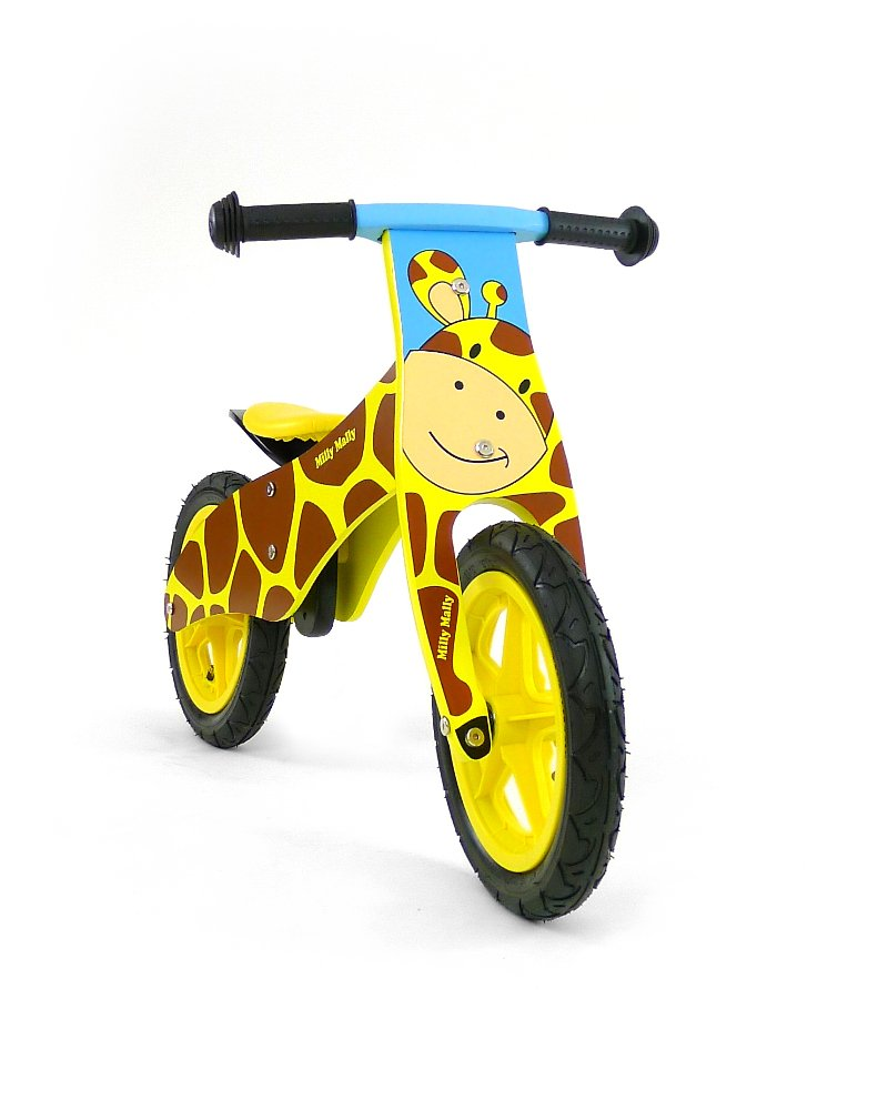 MultiColour Milly Mally 34713 Duplo Giraffe Wooden Balance Bike, MultiColour