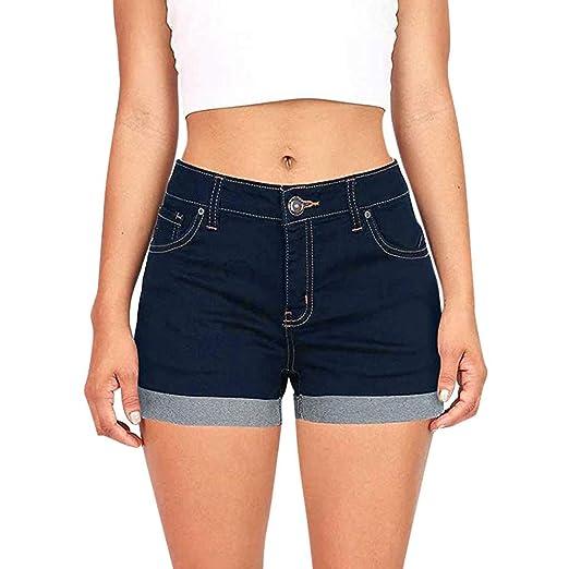 0723c9fc9 Women Low Waist Denim Shorts Pants Ladies Summer Fashion Vintage Ripped  Hole Jeans (S,