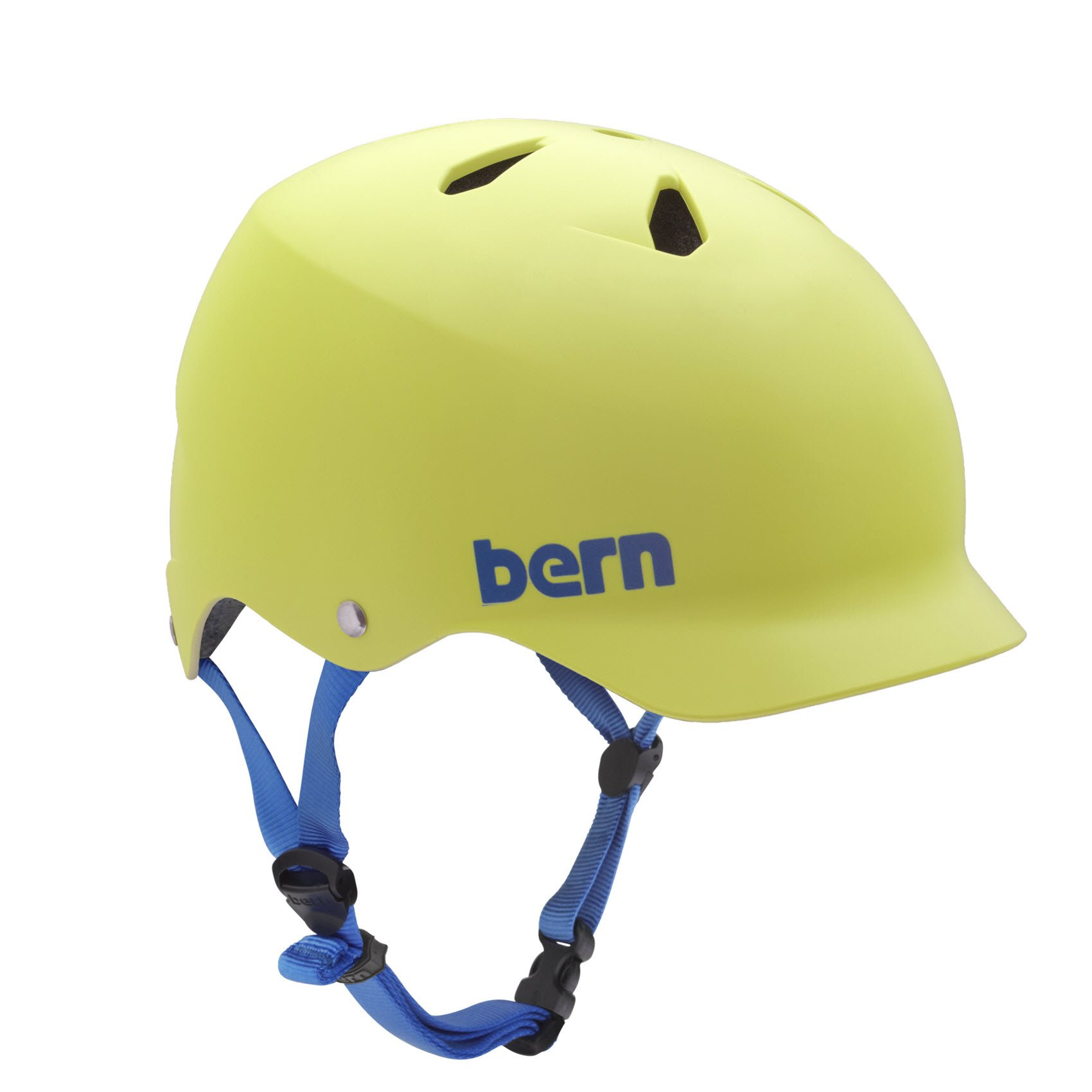 Bern Watts Summer Hard Hat, Matte Neon Yellow, X-Large