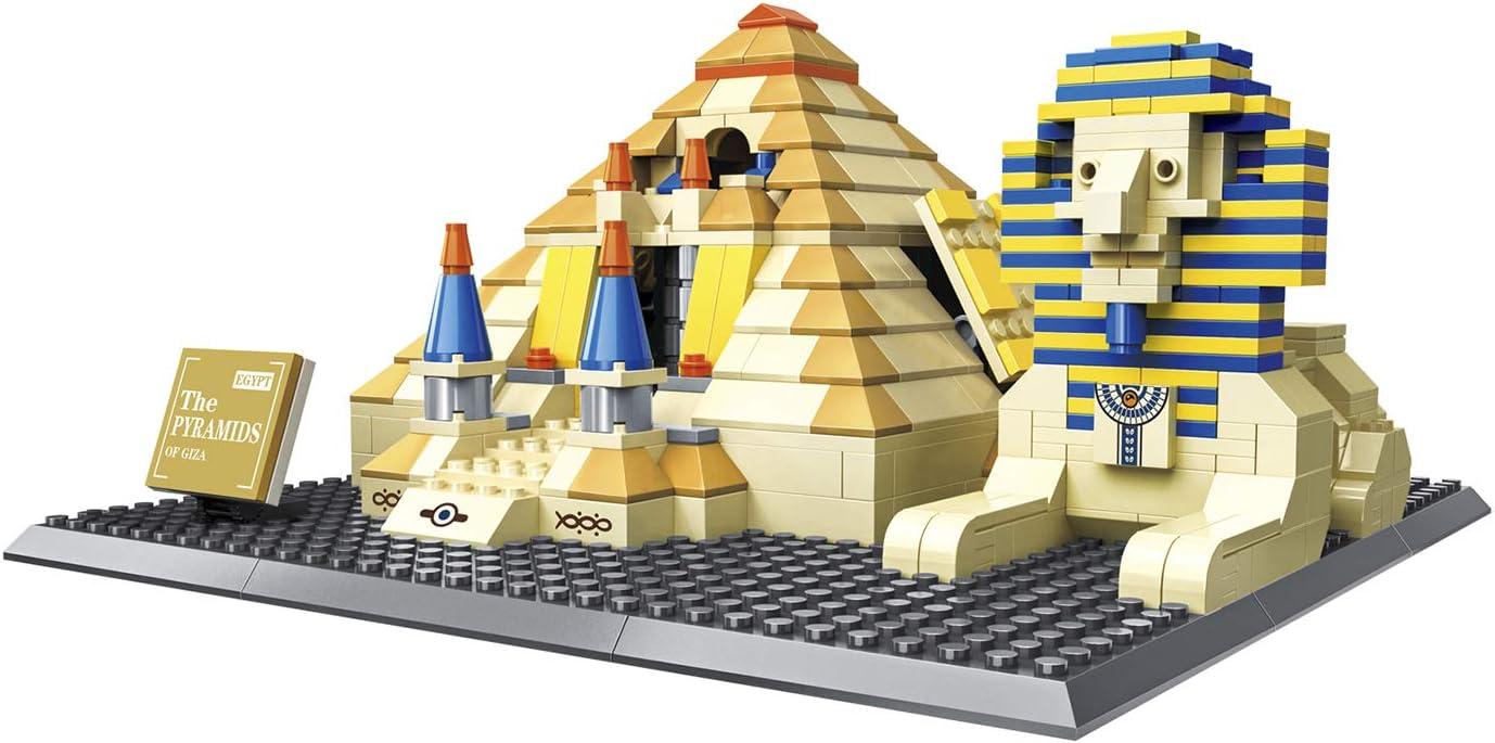 Airel Juegos de Construcción | Maquetas para Montar | Juguetes Construcción Niños | Juegos Construcción 3D | Puzzle 3D | Puzzle 3D Niños y Adultos | Piramide Egipto