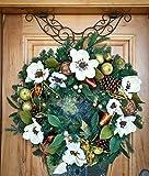 "24"" Brown Antler Design Adjustable Decorative Christmas Wreath Hanger"