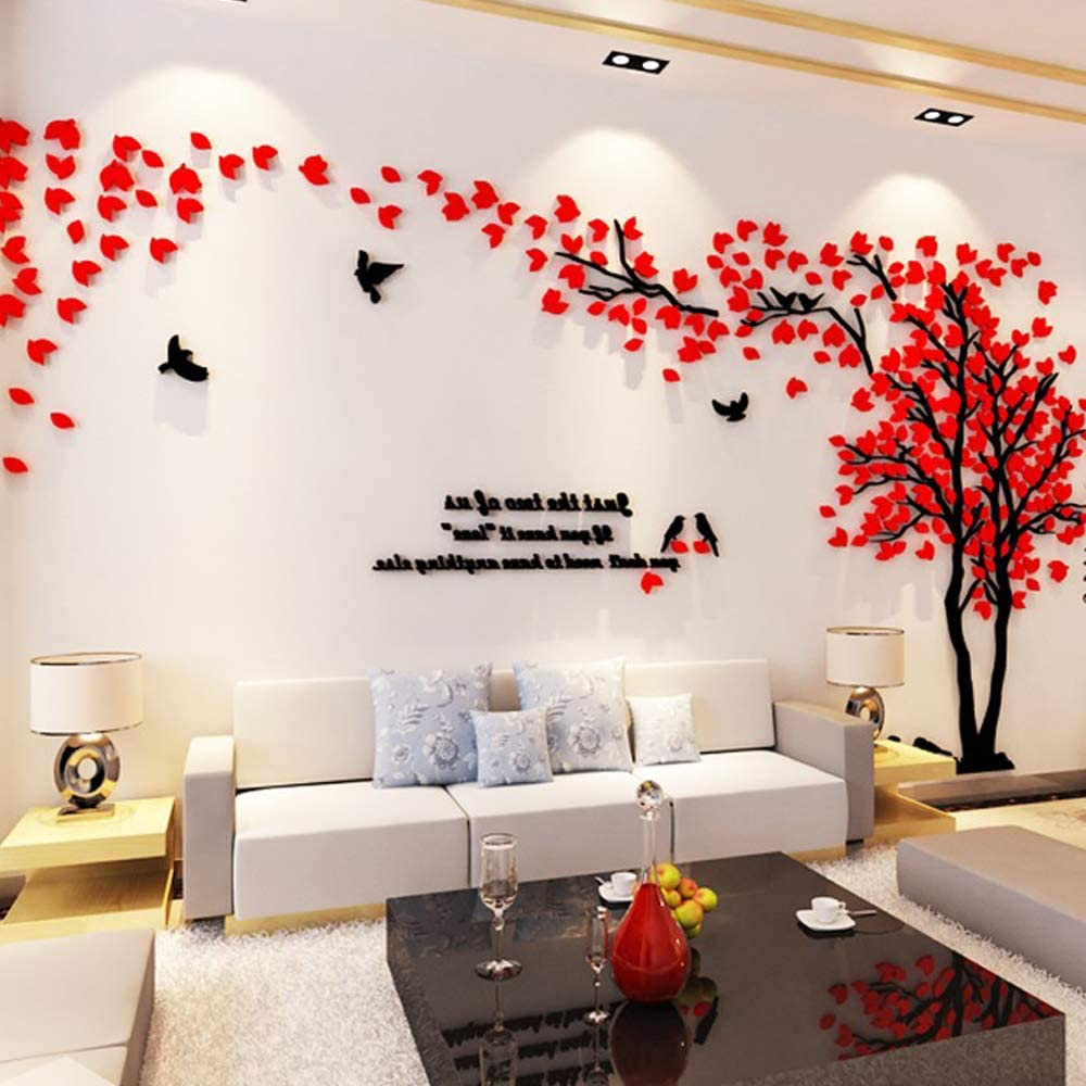 Details about  /Large Family Cat Tree Wall Decals 3D Acrylic Wall Stickers Mural Home Decor HOT