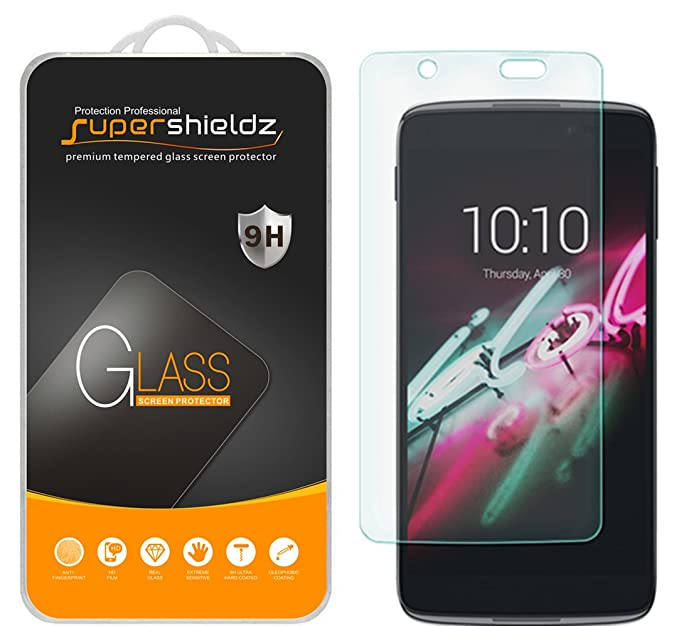 (2 Pack) Supershieldz for Alcatel Idol 4 Tempered Glass Screen Protector,  Anti Scratch, Bubble Free