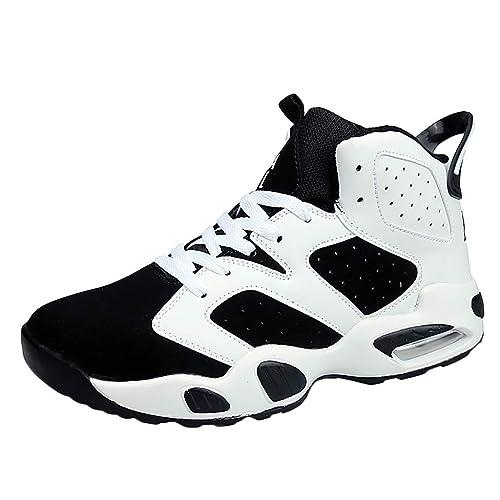 Zapatillas Deporte Hombre,DUJIE Zapatos Hombres Baloncesto Zapatos Mujeres Deportes Entrenadores Botas de Tobillo Sneaker Antideslizante Zapatillas de ...