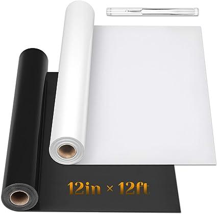 "12/"" x 10ft Heat Press Paper HTV Iron on Bundle Heat Vinyl Transfer Rolls"