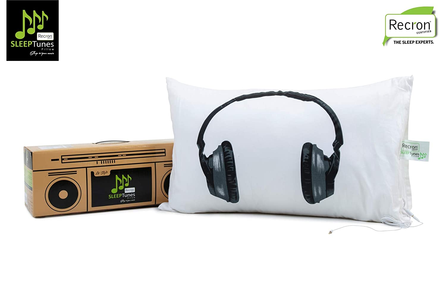 Recron Certified Sleeptunes Fibre Pillow With Pillow