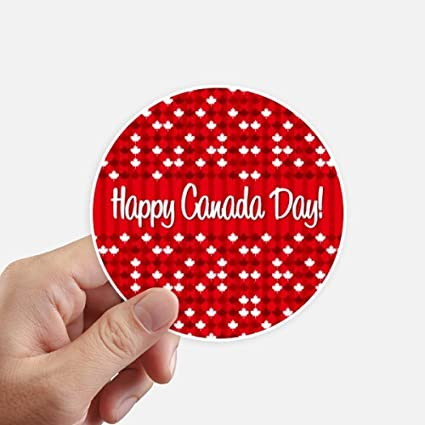 Canada flavor happy canadian day round stickers 10cm wall suitcase laptop motobike decal 8pcs