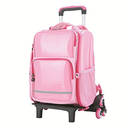 64c380c0b764 Ling Shi Children's Trolley Bag - Primary School Bag Trolley Bag 1-3 ...