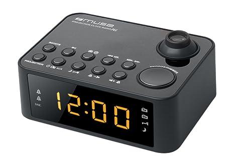 Muse M-178P Color Negro- Radio(Reloj, Digital, FM, MW