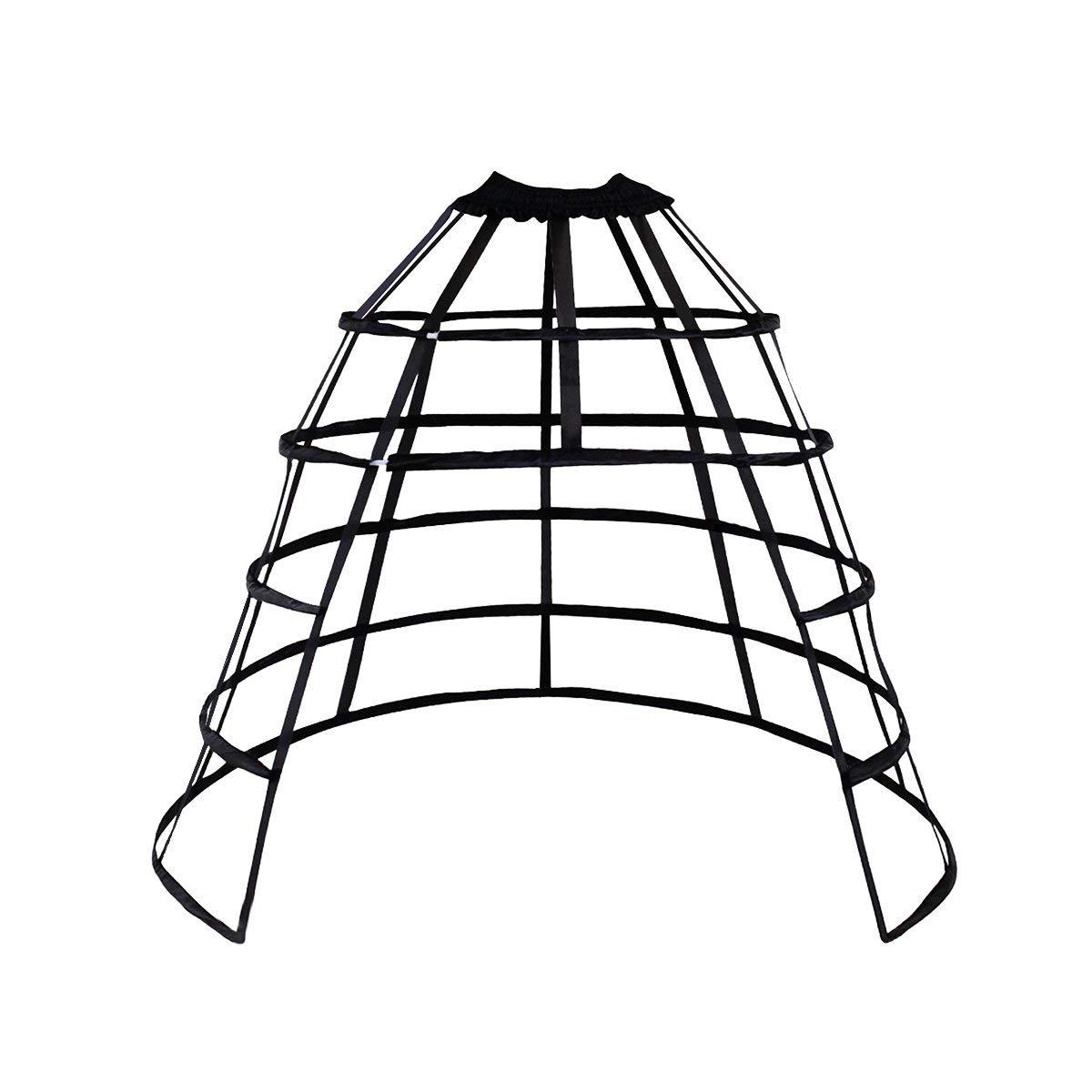 Victorian Lingerie History – Corset, Chemise, Petticoats HappyStory Cage Hoop Skirt Petticoat Dress Pannier 5 Hoops Bustle Cage Crinoline $29.99 AT vintagedancer.com