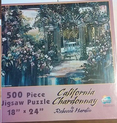 Best Chardonnay California - California Chardonnay 500 Piece Jigsaw Puzzle (By Rebecca Hardin) (18