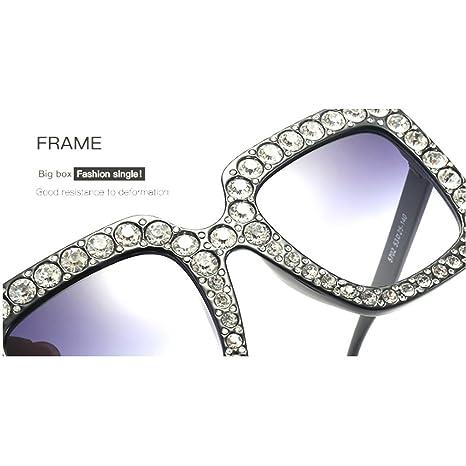 8769964d5f3 Amazon.com  MINCL Oversized Diamond s Women Handmade Square Glasses Frame  Eyewear 67mm UV400 (brown  Clothing