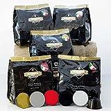 Capsule Compatibili Nescafe Nestlè Dolce Gusto Kit Prova 50 pz. La confezione contiene: 10 capsule di Cremoso Top Espresso, 10 capsule di Delicato arabica, 10 capsule di Ristretto Italiano, 10 capsule di Intenso Napoletano e 10 capsule di Decaffeinato