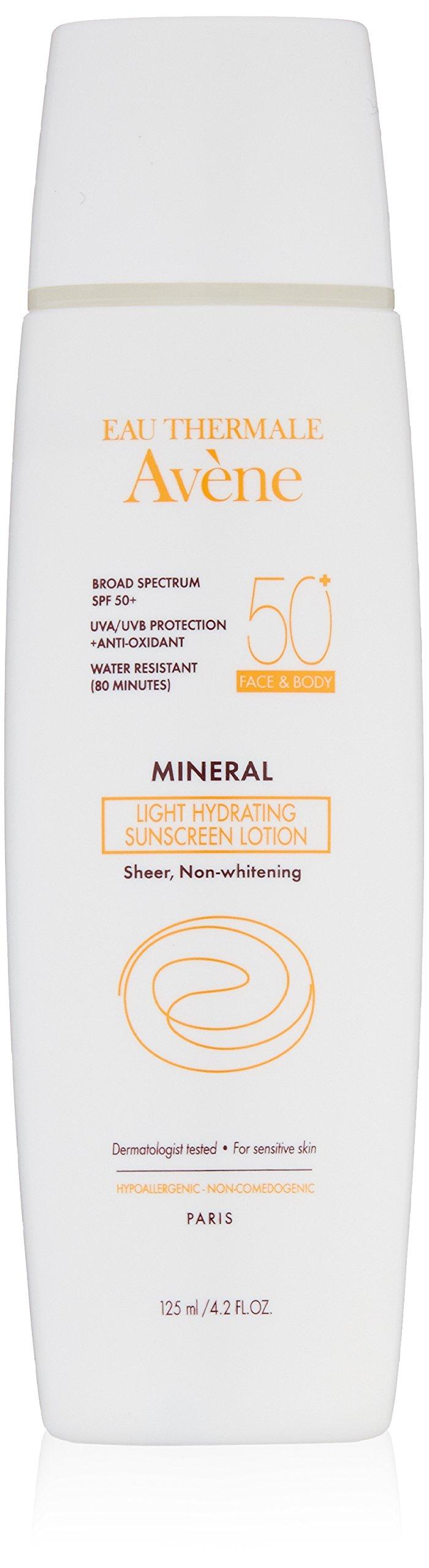 Eau Thermale Avène Mineral Light SPF 50 Plus Hydrating Sunscreen Lotion, 4.2 fl. oz.