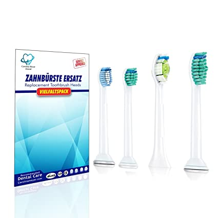 (1x4) Multipack Variety mix de cabezales para cepillos de dientes Carolina