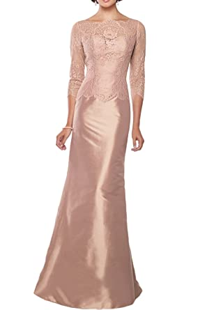 Gorgeous Bridal Lace Mermaid Mother of The Bride Long Evening Sleeves Dresses- US Size 2