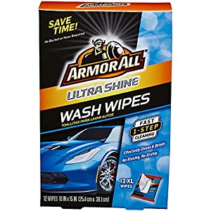 Armor All 18240 Ultra Shine Wash Wipes (12 XL Wipes), 1 Pack from Armor All