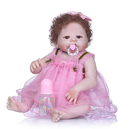 RIsxffp Silicona Suave Reborn Baby renacer muñeca recién Nacido Pelo ...