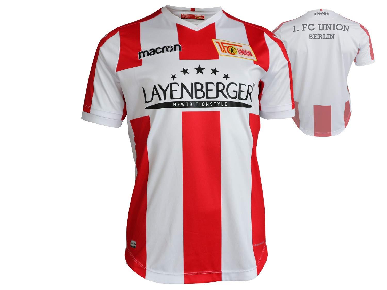 Macron 1. FC Union Berlin Niños Fútbol Jersey Rojo y Blanco 17/18 FCU Camiseta: Amazon.es: Deportes y aire libre