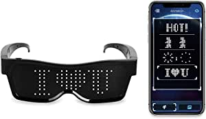 CustomEYES Bluetooth LED Glasses - Customizable by Free App - Rechargeable - Create Your own Designs