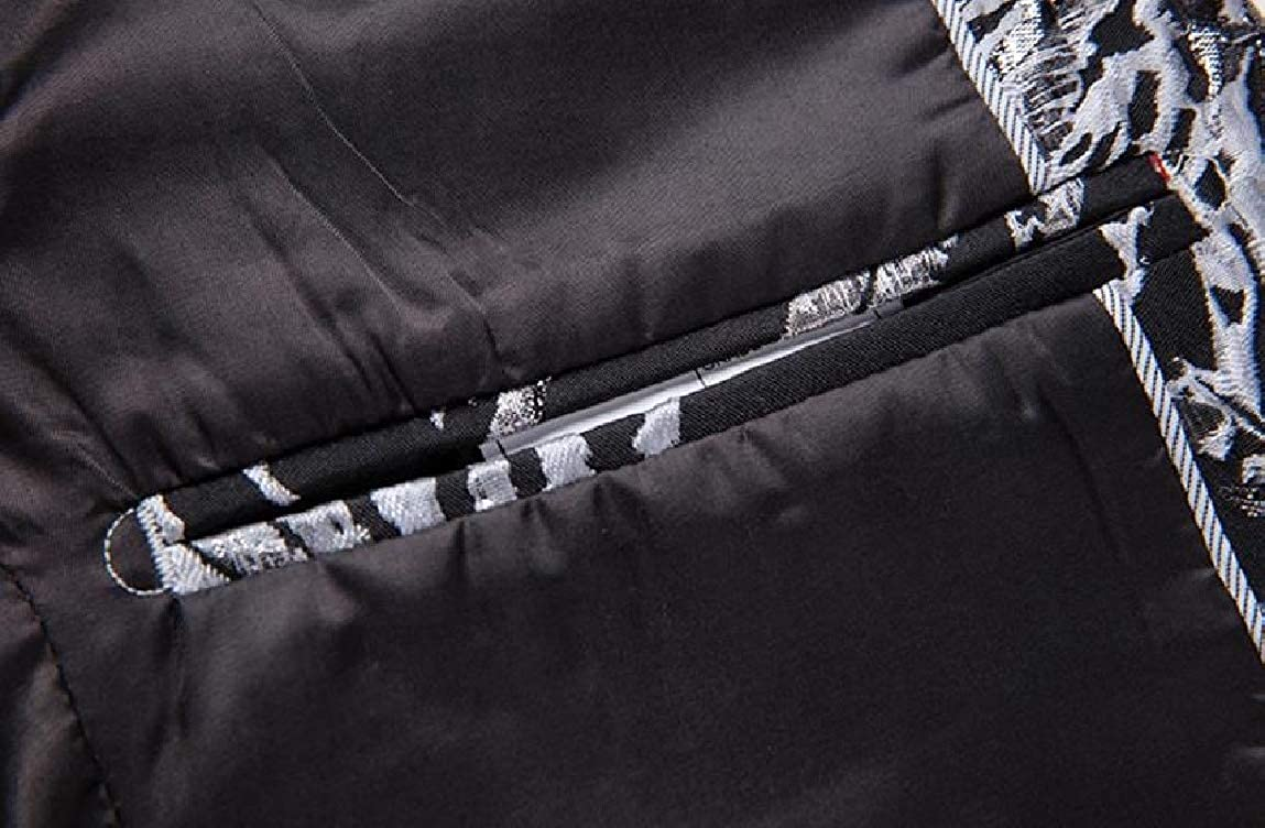 MirrliyMen Printing Premium Casual 1-Button Regular-Fit Autumn Dress Suit