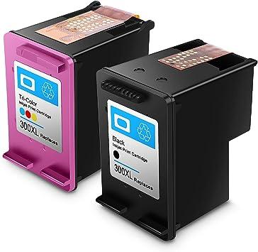 Reconstruido HP 300 XL HP 300 Cartuchos de Tinta de Alto Rendimiento Compatible con HP DeskJet D1660/D2660/D5560/F2480/F4280/F4580 (1 Negro, 1 Tricolor): Amazon.es: Electrónica