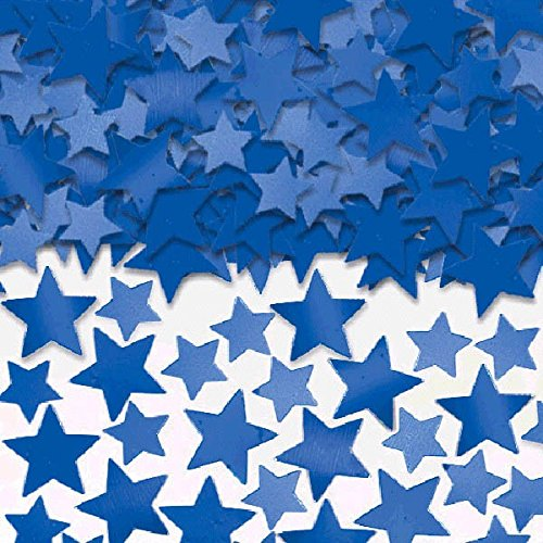 Amscan Star Confetti (Super Value Pack), 5 oz., Blue (Football Star)