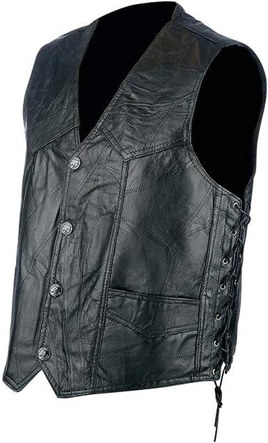 Kids Boys//Girls BEADED Leather Waistcoat//Vest Biker Style Biker Motorcycle