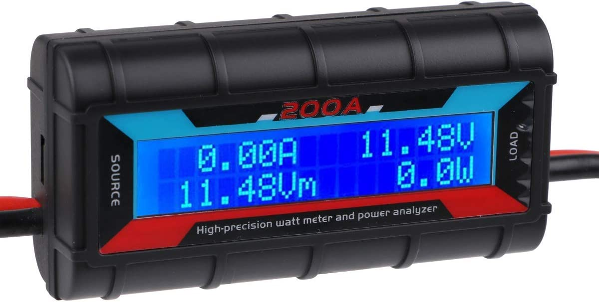 150A 200A Watt Meter Power Analyser Digital LCD Volt Amp Solar Caravan+2 Plug CJ