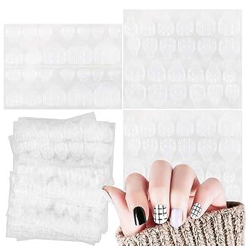 VINFUTUR 20 Hojas Adhesivo de Pegamento para Uñas, Cinta de ...