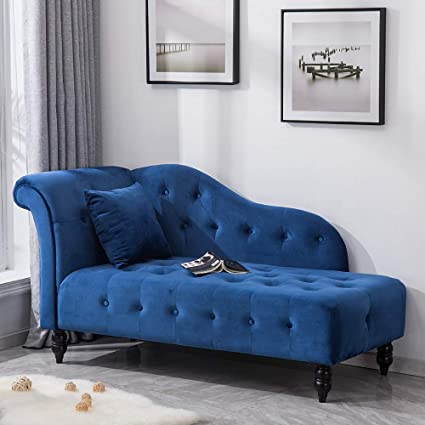 Marvelous Warmiehomy Velvet Chaise Longue Sofa Bench Buttoned Decor Gmtry Best Dining Table And Chair Ideas Images Gmtryco