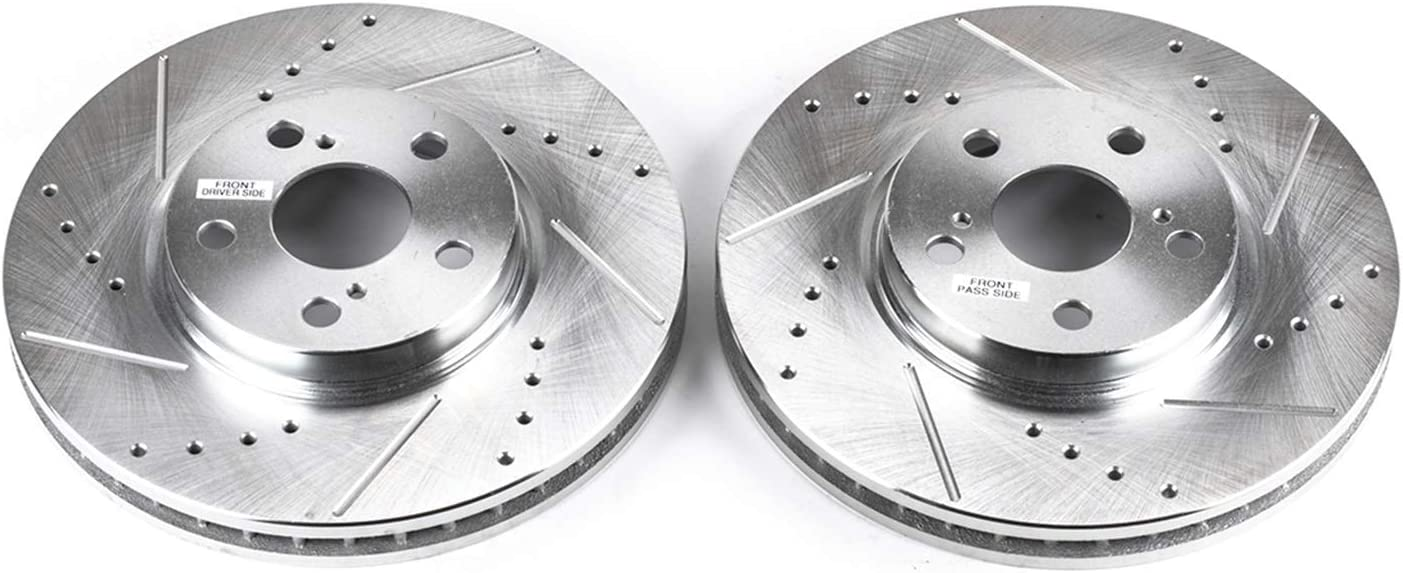 Power Stop JBR748XPR Front Evolution Drilled /& Slotted Rotor Pair
