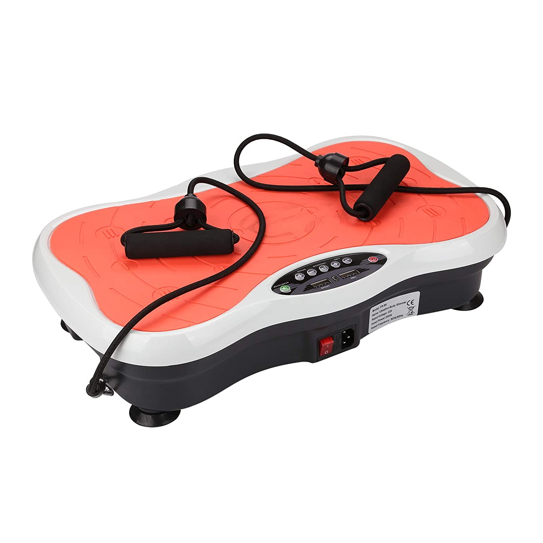 BALLSHOP Vibrationsplatte 120 kg Belastbar Fitness Ger/äte f/ür Zuhause Ganzk/örper Trainingsger/ät rutschfest Gro/ße Fl/äche inkl Trainingsb/änder Ern/ährungsplan