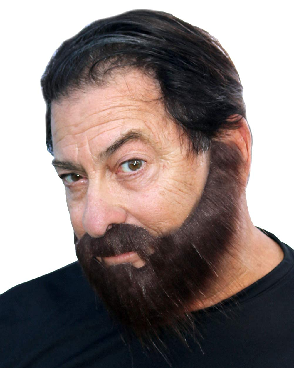 Realistic Looking Long False Costume Beard with Self Adhesive Full Beard with Mustache and Soul Patch