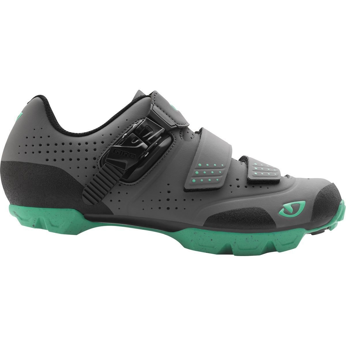 Giro 2017 Womens Manta R Dirt Cycling Shoes (Charcoal/Turquoise - 37.5) by Giro