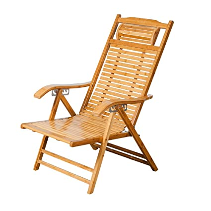 Lounge Chairs ZHIRONG Recliners Bamboo Chair Old Man Siesta Chair Lazy Chair  Office Chair Armchair Garden