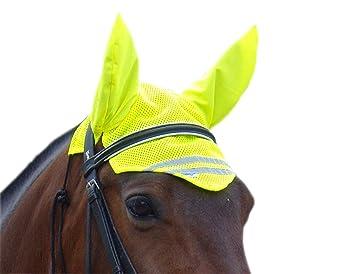 V-Bandz Fly Protection - Máscara para caballo, color amarillo, talla UK: