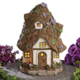 Cheap Bits and Pieces – Solar Fairy Cottage – Make Your Magical Fairy House Come To Life In Your Garden – Unique Outdoor Lawn and Garden Décor