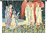 Tapestry, Extra Large, Wide - Elegant, Fine, French & Wall Hanging - The Holy Grail II (The Vision) - With Border, E-H43xW56