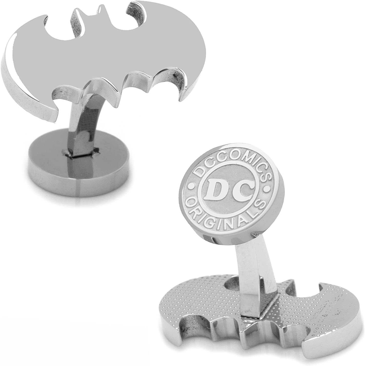 DC Comics Stainless Steel Batman Cufflinks, Officially Licensed