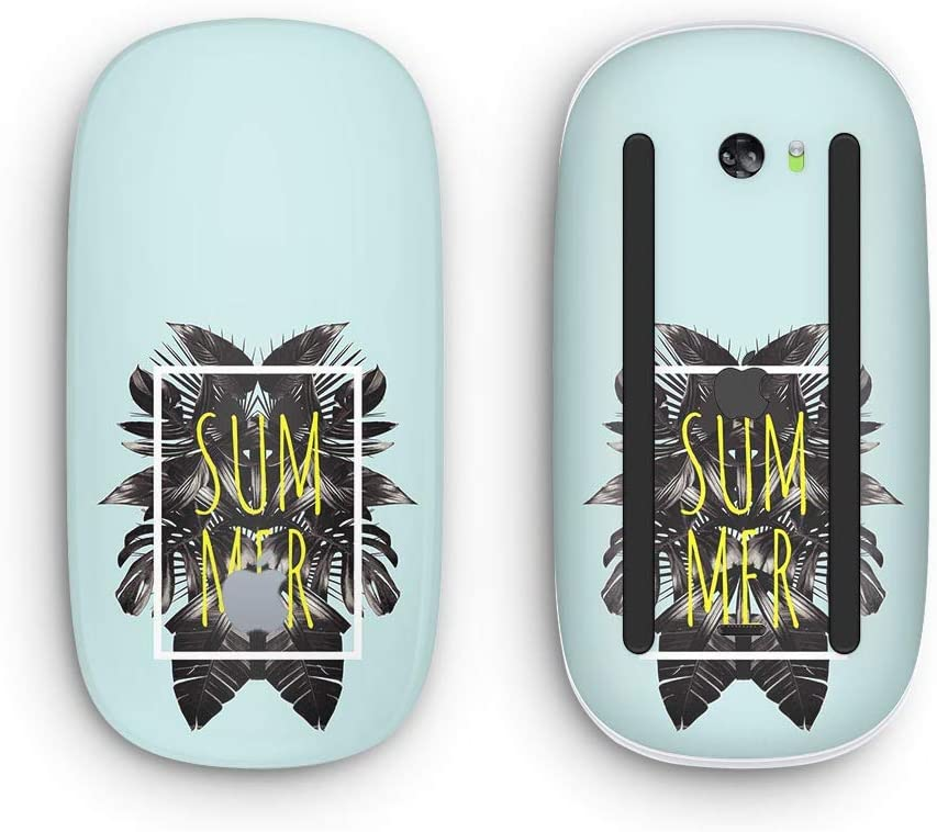 with Multi-Touch Surface Mint Summer Time Wireless, Rechargable Design Skinz Premium Vinyl Decal for The Apple Magic Mouse 2
