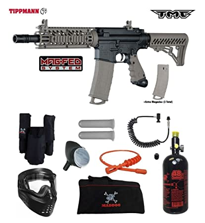 Amazon Com Tippmann Tmc Magfed Private Hpa Paintball Gun Package
