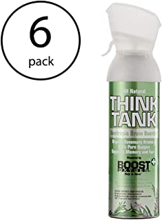 product image for Boost Oxygen Think Tank Natural Portable 5 Lt Pure Canned Oxygen Rosemary 6Pack