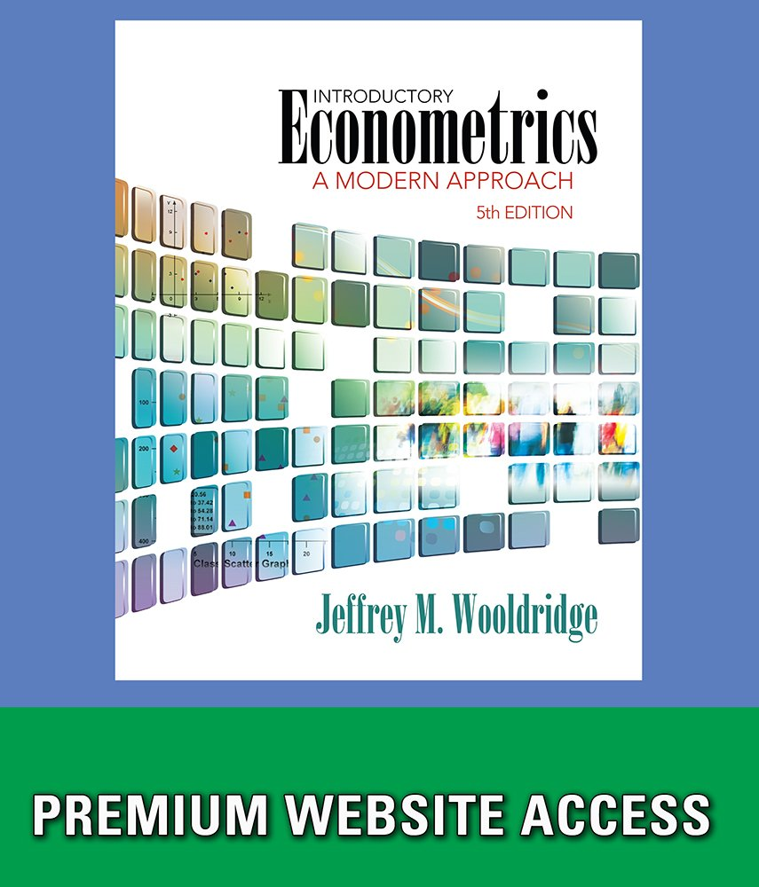 Amazon.com: Premium Website for Student Solutions Manual for Wooldridge's Introductory  Econometrics, 5th Edition: Software