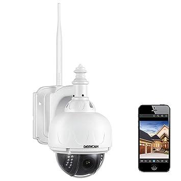 Telecamera di sicurezza Wireless esterna Dericam, telecamera WiFi PTZ, Zoom Ottico 4X, messa